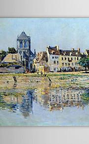 Célèbre peinture à l'huile par la rivière à Vernon par Claude Monet