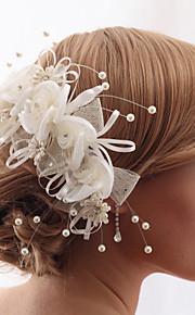 Peigne/Fleurs Casque Mariage/Casual/Outdoor/Occasion spéciale/Bureau & Carrière Satin/Tissu/Cristal/Tulle/Imitation de perleFemme/Jeune