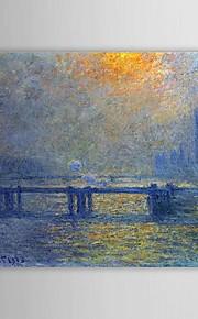 Célèbre peinture à l'huile Charing Cross Bridge, la Tamise par Claude Monet