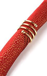 Sæt med 4 Moderne Rød Design Polyester Servietter