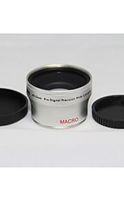 40.5mm 0.45x groothoek + macro voorzetlens 40,5 0,45 Zilver