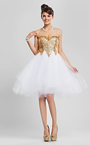 TS Couture® Cocktail Party / Prom / Sweet 16 Dress - Gold Plus Sizes / Petite A-line / Princess / Ball Gown Strapless / Sweetheart
