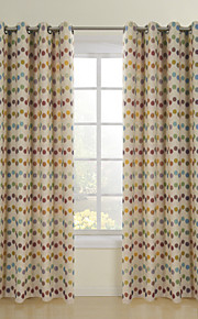 (Two Panels) Modern Spots Jacquard Energy Saving Curtain