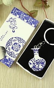 Bleu et blanc personnalisé Faveur porte-clés dans la boîte de cadeau (Set of 6)