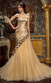 Lanting Bride® Trompette / Sirène Petites Tailles / Grandes Tailles Robe de Mariage - Classique & Intemporel / Brillant & Séduisant