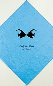 Servilletas de boda personalizados Kissing Fish (más colores)-conjunto de 100