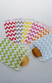 Chevron papier Craft aliments des sacs de cadeau (plus de couleurs)-set de 25
