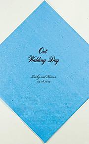 Boda personalizada Servilletas Nuestro día de boda (más colores) Juego de 100