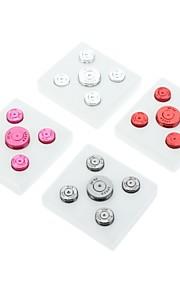 4 x Udskiftning Knapper til Xbox 360-controller (assorterede farver)