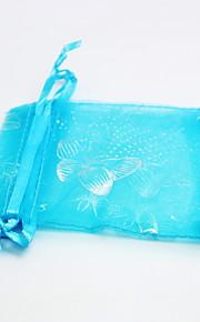 Papillon bleu Sacs Organza (100 pièces par packge)