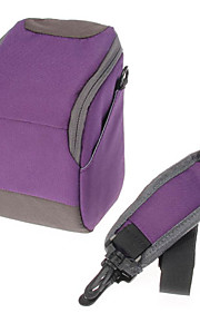 B-01-PL Paars crossbody One-schouder camera tas voor DSLR Camera