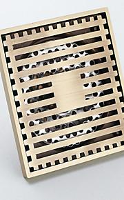 Bathroom Accessory Antique Brass Finish Solid Brass Floor Drain-LK-1053