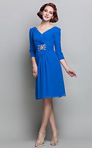 Lanting Sheath/Column V-neck Chiffon Cocktail Dress