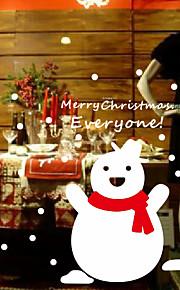 Holiday joulua Hyvää Lumiukko Wall Tarrat
