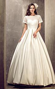 Lanting Bride® Corte en A Tallas Grandes / Tallas pequeñas Vestido de Boda - Elegante y Lujoso / Glamouroso Hasta el Suelo Joya Satén con