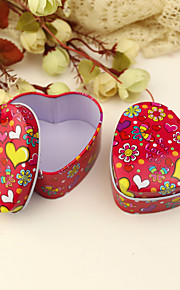 "12 Piece/Set Favor Holder - Heart-shaped Tins Favor Tins and Pails ""Butterflies Love Flowers"""
