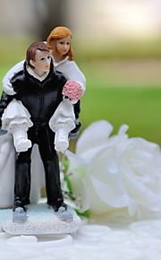 Decorazioni torte Non personalizzate Coppia classica / Sportivo Resina Matrimonio Bianco / Nero Classico Confezione regalo