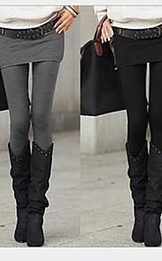Frauen zwei Stück wie schlank warmen Leggings mit Rock