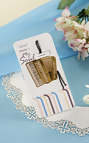 Golden Accordion Bookmark with Hide Rope