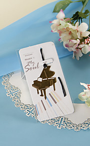 Golden Piano Bookmark with Hide Rope