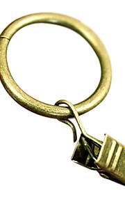 Estilo Retro Bronze Roma Clipe Ring (2,7 centímetros de diâmetro)
