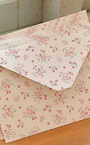 Small Flower Pattern Art Paper Envelop - Set of 12