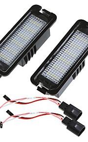 Par sin errores 18 3528 la matrícula del LED SMD lámpara de luz para Golf Passat CC Eos