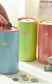 Blik Solid Color Piggy Bank (tilfældig farve)