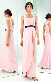 Formal Evening/Prom/Military Ball Dress - Pearl Pink Plus Sizes Sheath/Column Square Floor-length Stretch Satin
