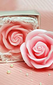 Rose rose Bougie