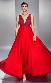 Formal Evening/Prom/Military Ball Dress Plus Sizes A-line V-neck Floor-length Chiffon