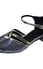 Chaussures de danse(Argent Or) -Non Personnalisables-Talon Bottier-Paillette Brillante-Moderne Salon