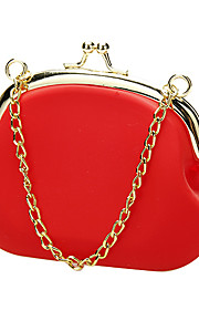 Silicone Cosmetic Bag with Gold Metal Chain (More Colors)