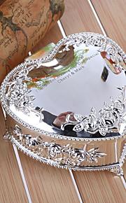 cadeau cadeaux de demoiselle d'honneur boîte à bijoux en alliage de zinc en forme de relief de cœur floral personnalisé