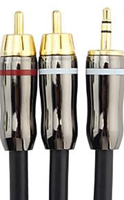 C-Cable 3,5 millimetri maschio a maschio 2xRCA Audio Cable (15M)
