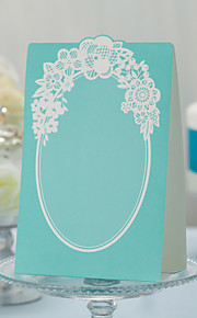Chic Green Wedding Place Cards - Set of 10