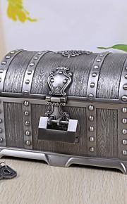 Vintage Silver Tutania Treasures Box / Boîte à bijoux avec serrure