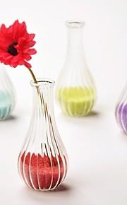 stripe utforming krystall glass vase bord deocrations (flere farger, sand inkludert, blomster ikke inkludert)