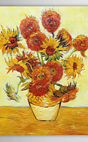 IARTS®Hand Painted Oil Painting Masterpiece Reproduction  Vincent Van Gogh Reproduction Sunflower with Stretched Frame