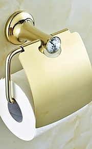 Contemporary Golden Crystal Brass Toilet Roll Holders