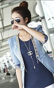 Women's New Fashion Denim Short Small Suit Blazer