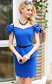 Women's Blue Shirt , Bodycon/Casual Short Sleeve