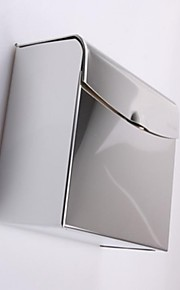 Chrome Thick Stainless Steel Waterproof  Toilet Tissue Box Bathroom Accessories