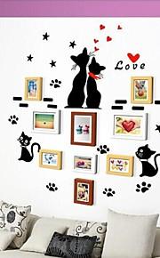 Frame Collection 3 colores Lote de fotos de 9 con etiqueta de la pared