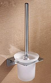 Solid Brass Square-formet Toalettbørste Holder med Brush