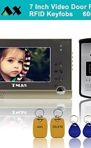"tmax® 7 ""tft bedrade deurbel video-intercom deurtelefoon systeem rfid keyfob 600TVL HD IR camera"
