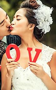 """אבזרי """"אהבה"""" חתונה עיצוב עגול תא דגל / תמונה ילדה פרח יד (יותר צבעים)"""