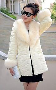 Mode manches longues châle en fausse fourrure Parti / Manteau Casual (plus de couleurs)