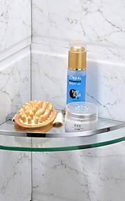 צדף לחדר האמבטיה כרום התקנה על הקיר 21*21*4cm(8.3*8.3*1.5inch) פלדת אל חלד / זכוכית מודרני