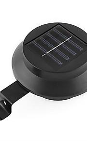 3-conduit puissance solaire maison noir lumière blanche lampe clôture de la cour